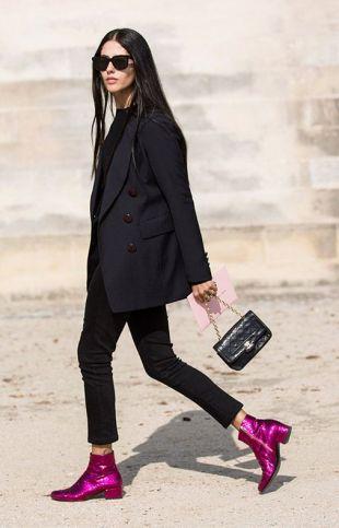 black oversized suit