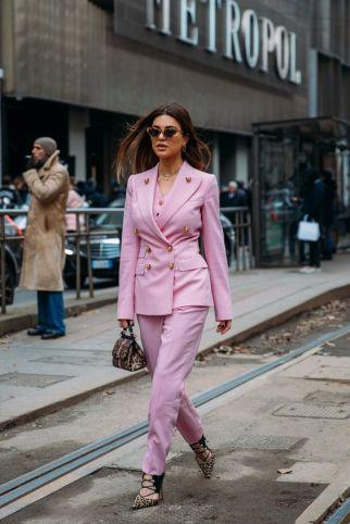 pink suit negin