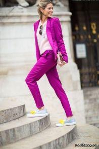 purple oversized suit