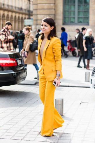 yellow classy suit
