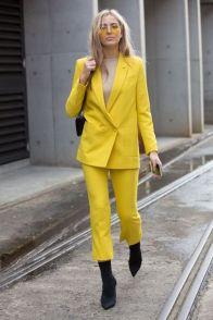 yellow oversized suit
